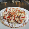 Nutella Pizza with Banana and Strawberry