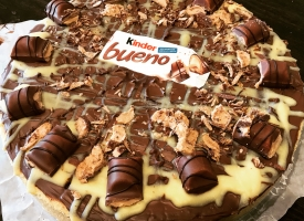 Kinder Bueno cheese cake